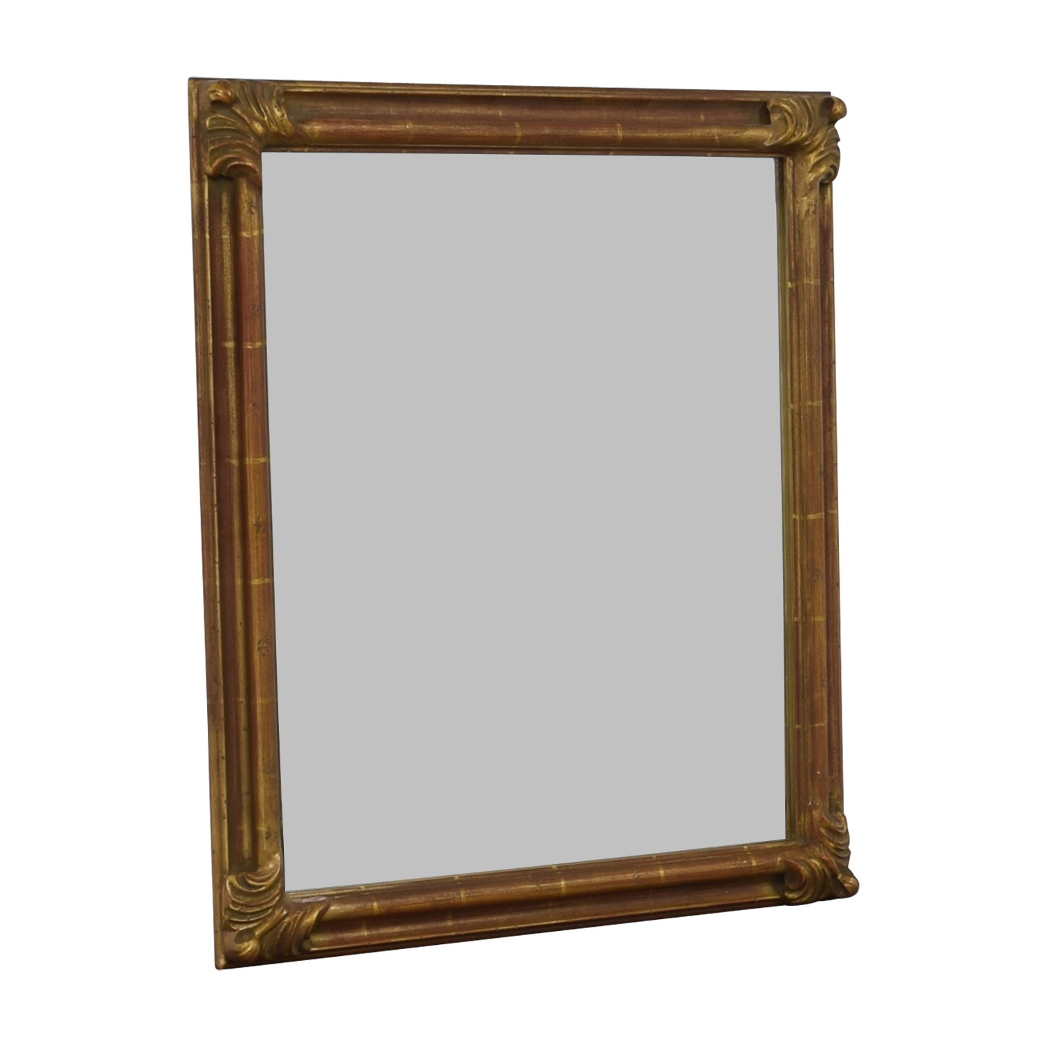 Pier 1 Imports Distressed Gold Wall Mirror / Mirrors