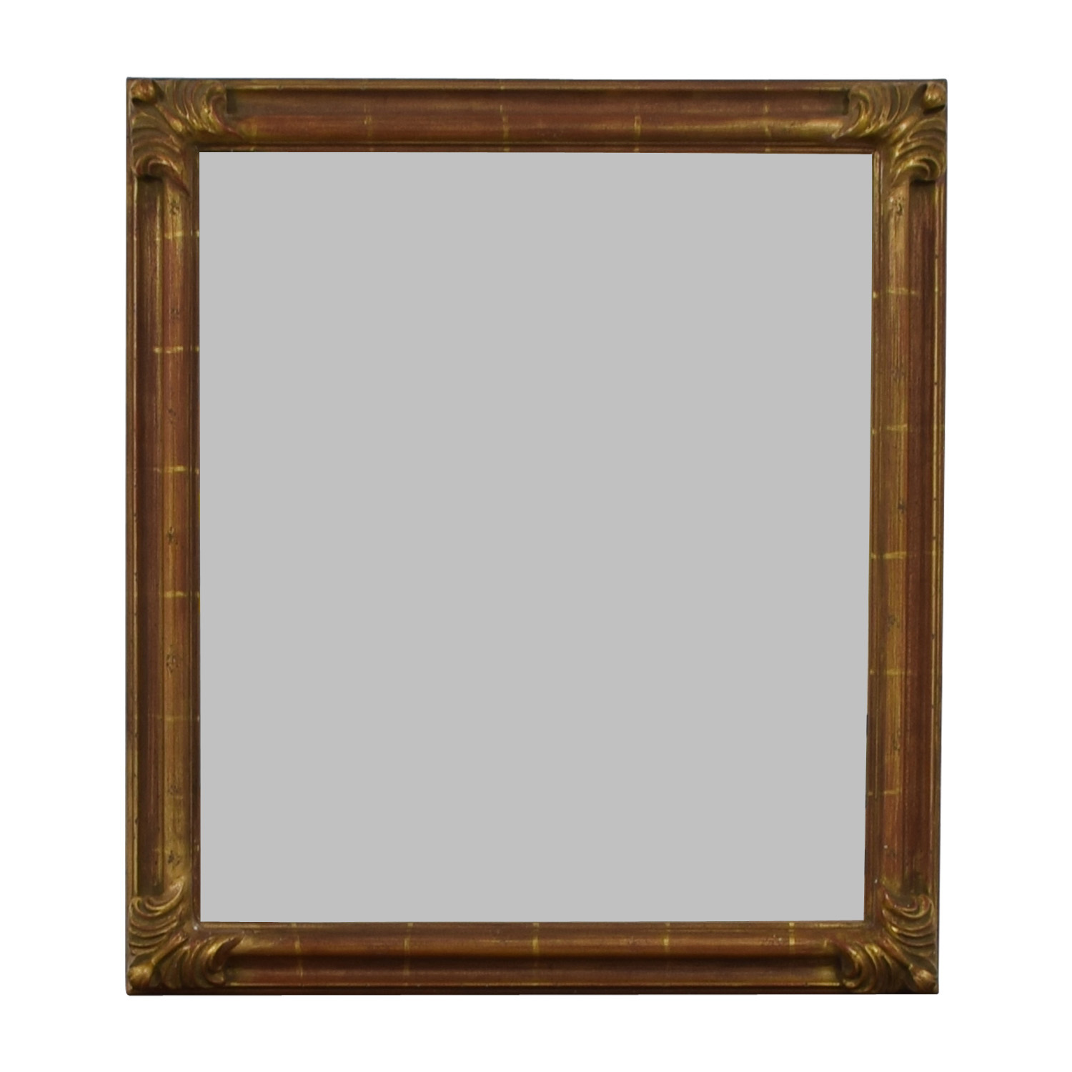 51% OFF - Pier 1 Imports Pier 1 Imports Distressed Gold Wall Mirror ...
