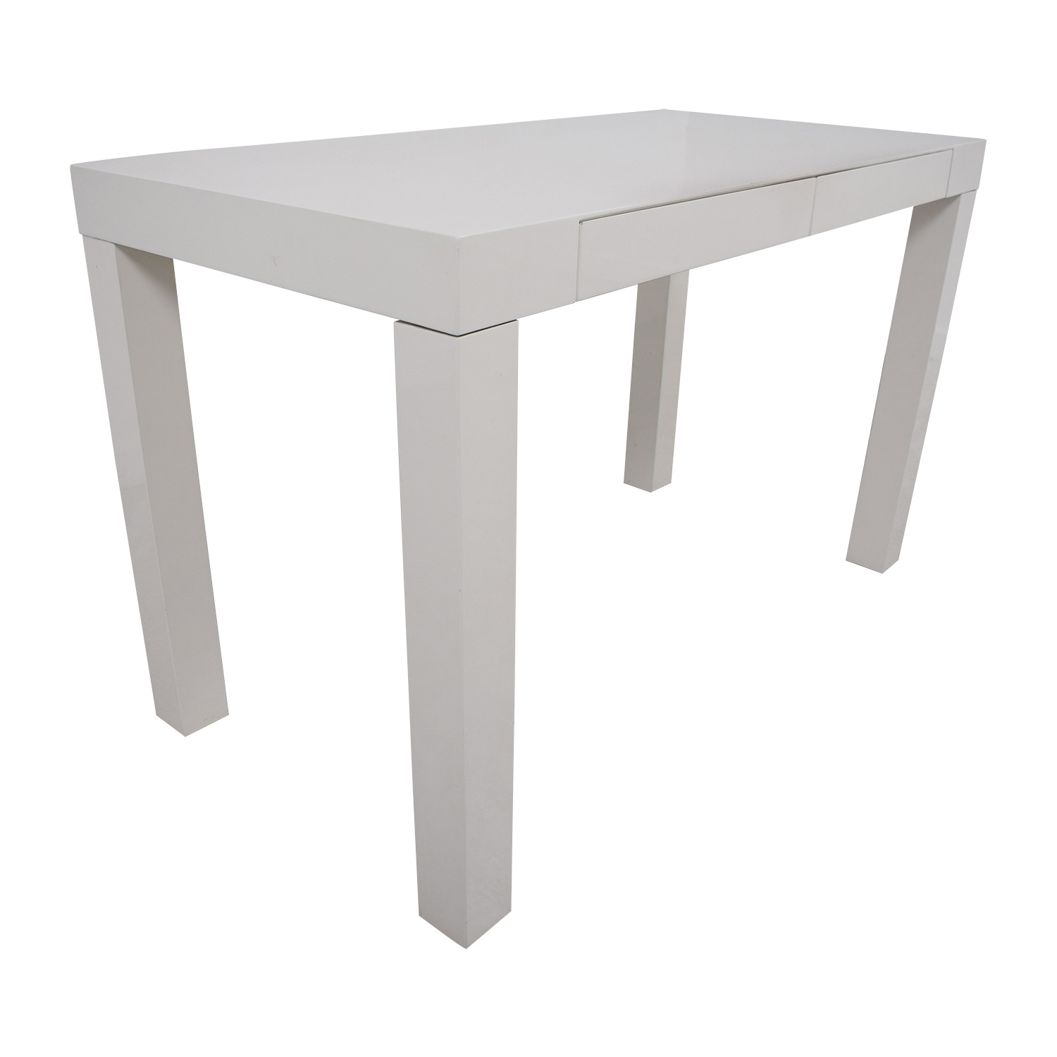 73% OFF - West Elm West Elm Pasons White Two-Drawer Desk / Tables