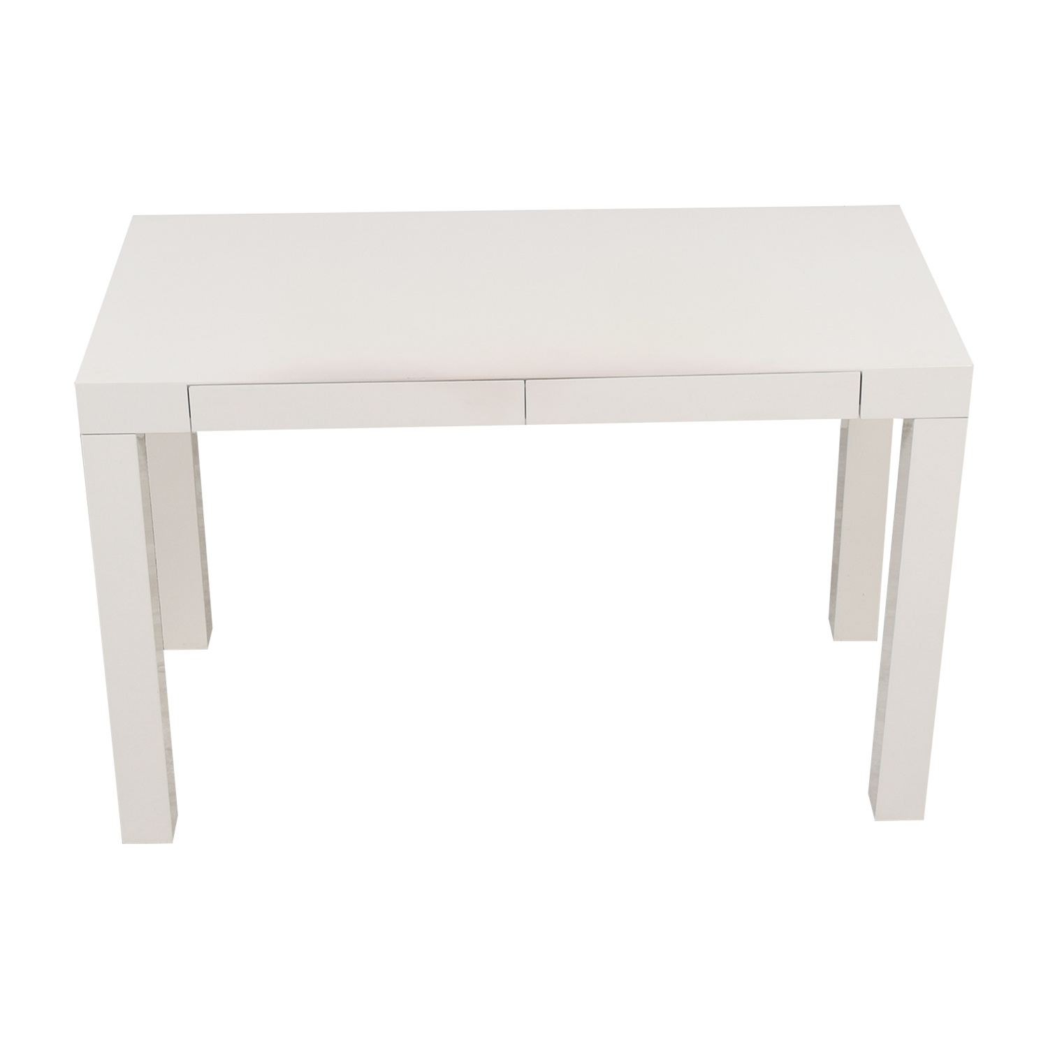 West Elm West Elm Pasons White Two-Drawer Desk coupon