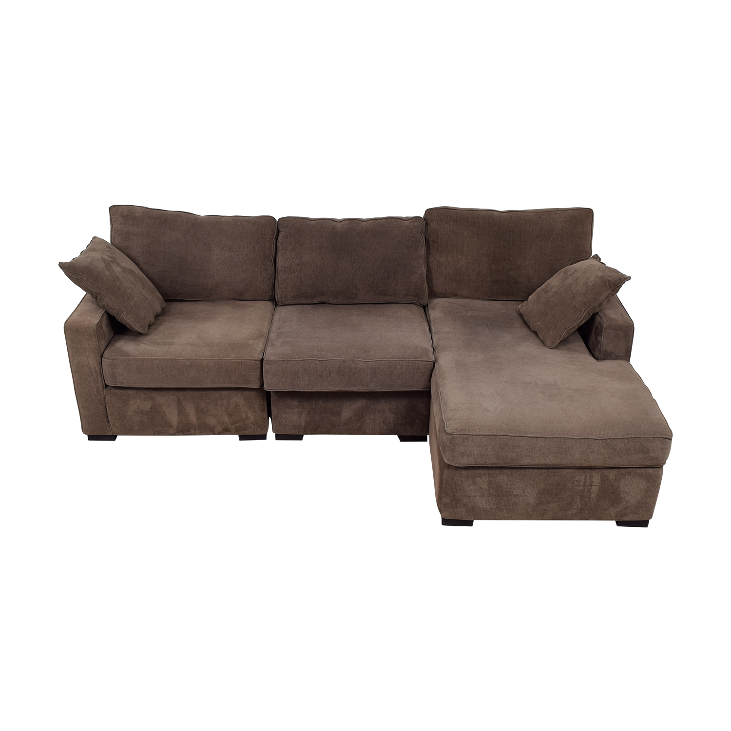shop Radley Brown Chaise Sectional Radley Sectionals