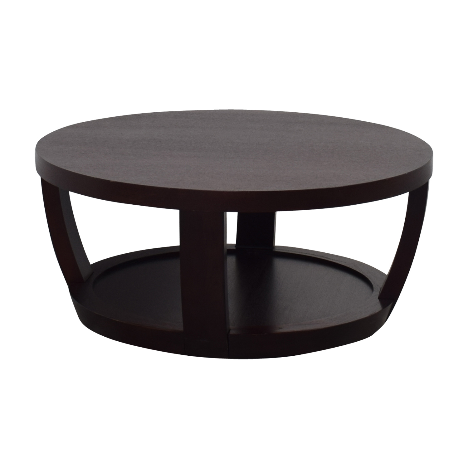 89 Off Macy S Macy S Round Wood Coffee Table Tables