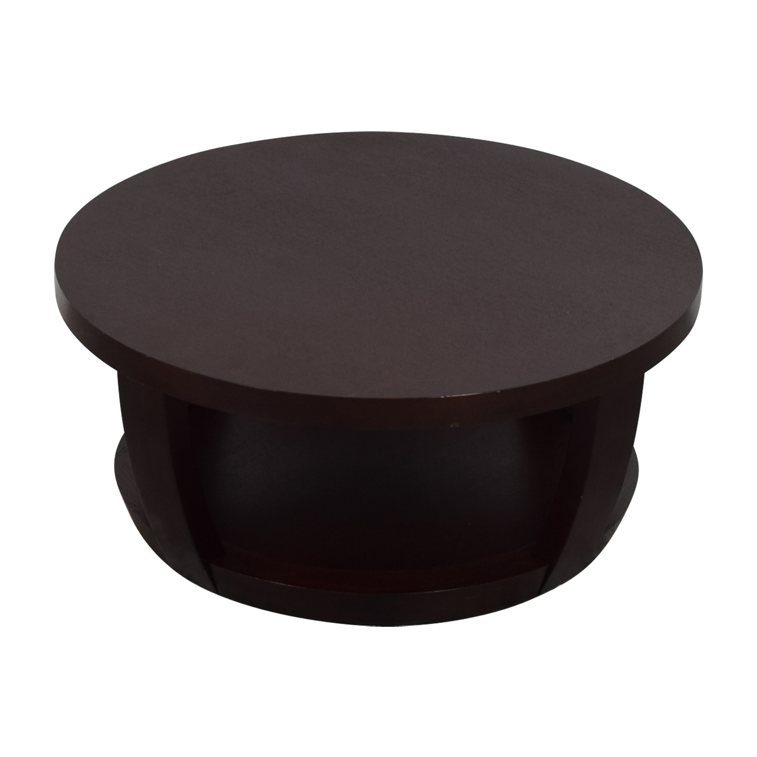 Macy's Round Wood Coffee Table sale