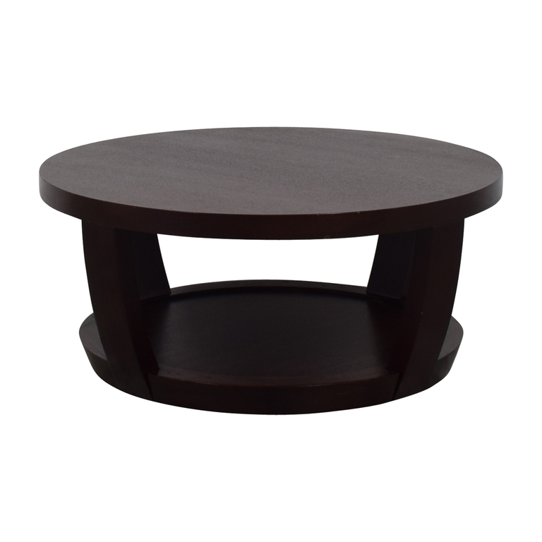 Macy's Macy's Round Wood Coffee Table second hand