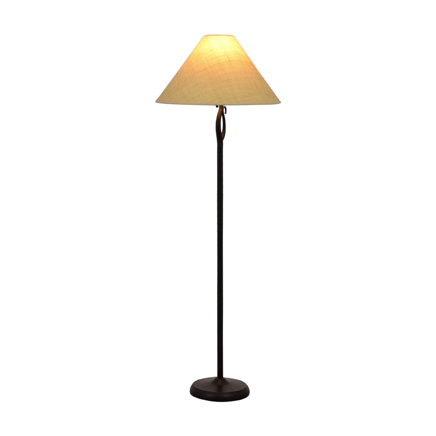shop Black Metal Floor Lamp