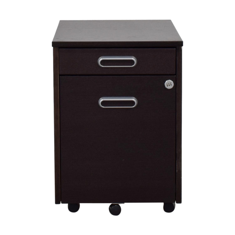 IKEA IKEA Grey Four-Drawer File Cabinet nj