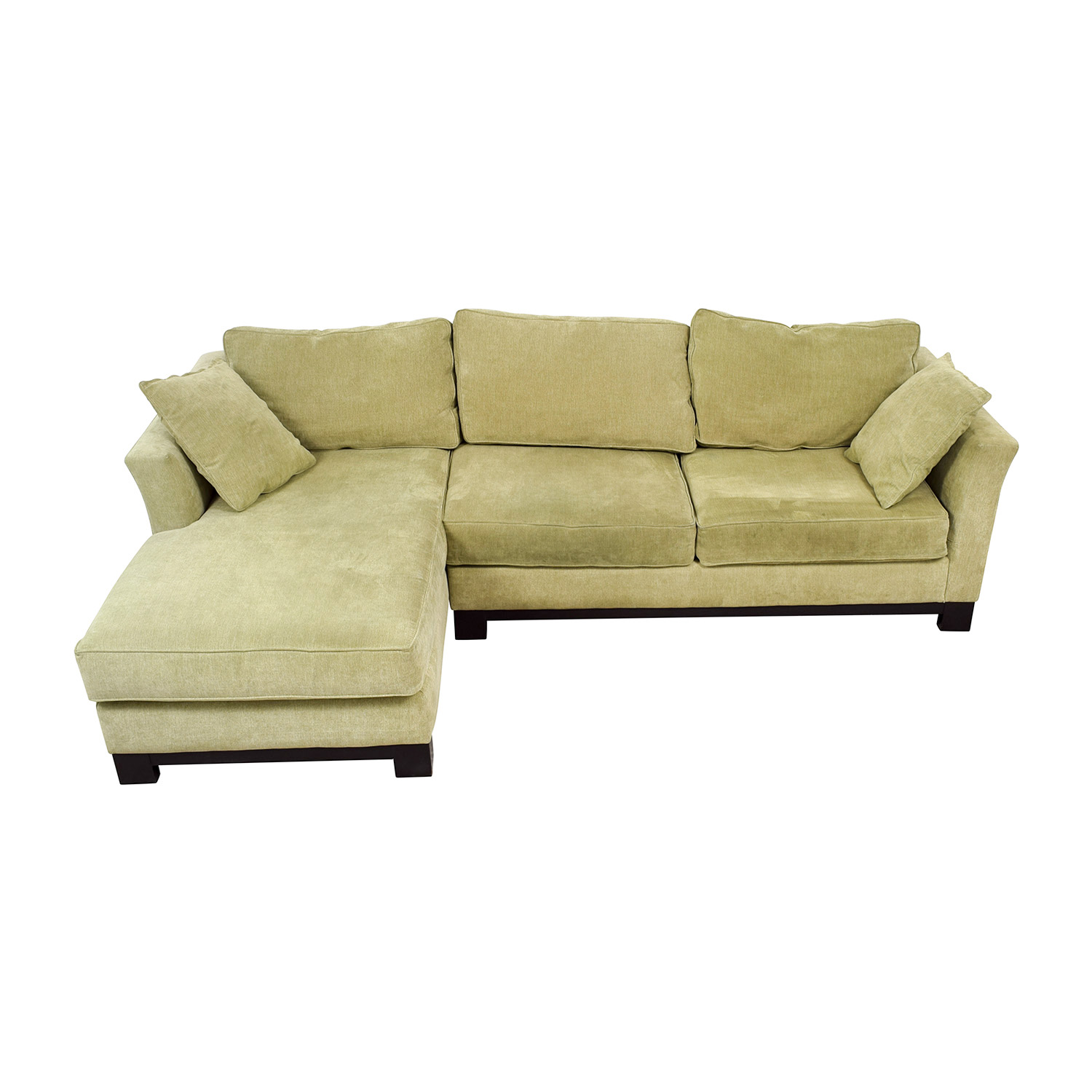 Macy's Macy's Light Green Chaise Sectional coupon