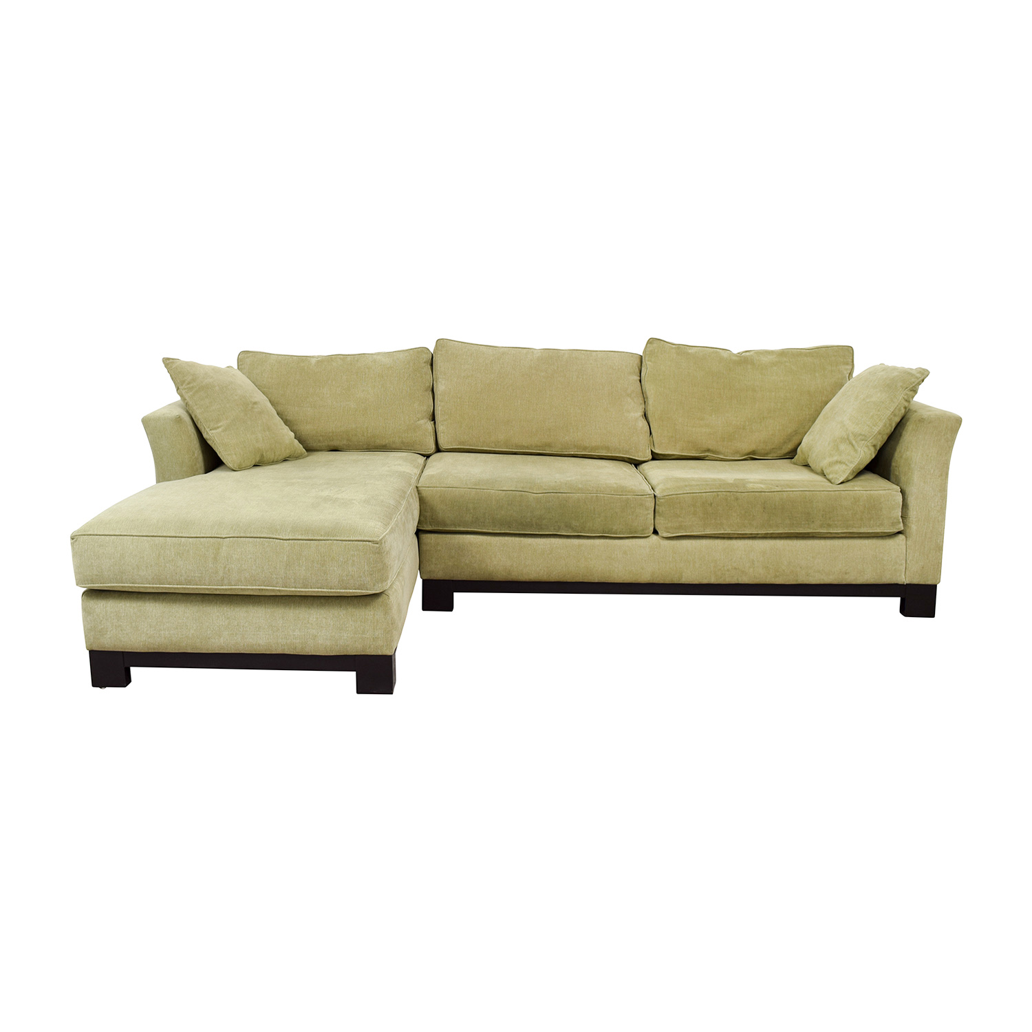 Macy's Macy's Light Green Chaise Sectional for sale