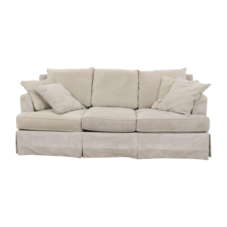 Martha Beige Three Cushion Sofa