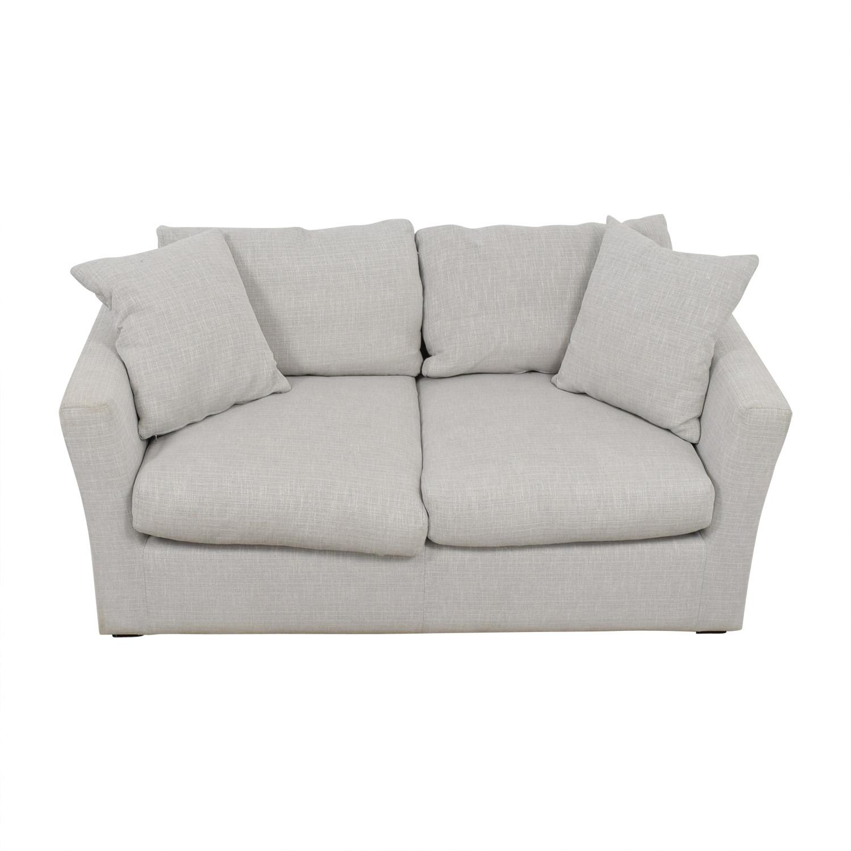 buy Adventures in Furniture Grey Linen Feather and Foam Loveseat Adventures in Furniture