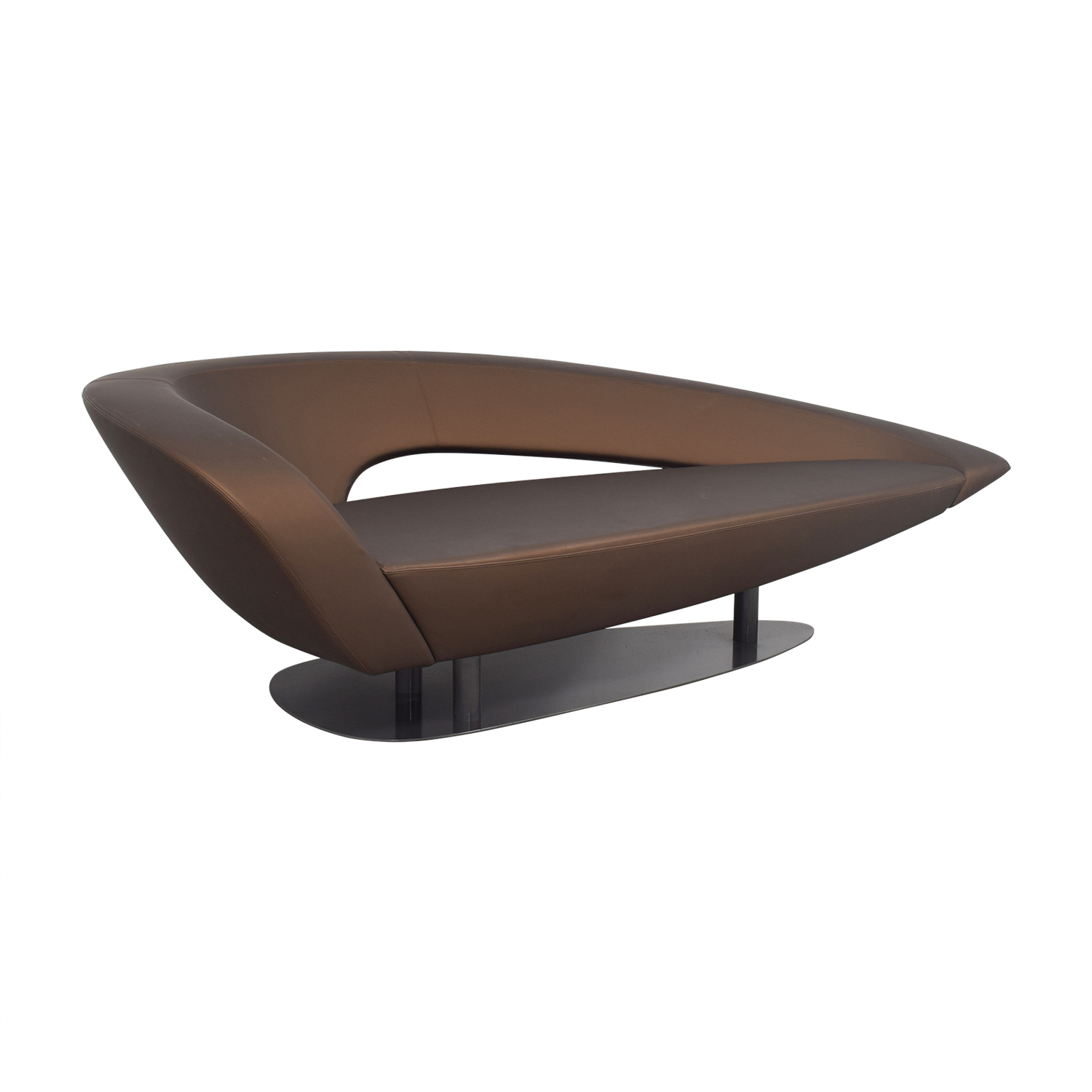 Roche Bobois Brown Modern Loveseat Chairs
