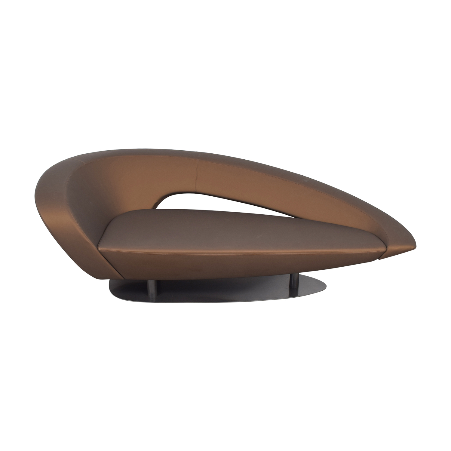 shop Roche Bobois Brown Modern Loveseat Roche Bobois
