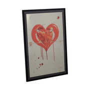 shop Lara Zombie Love Birds Aluminum Framed Artwork Lara Zombie