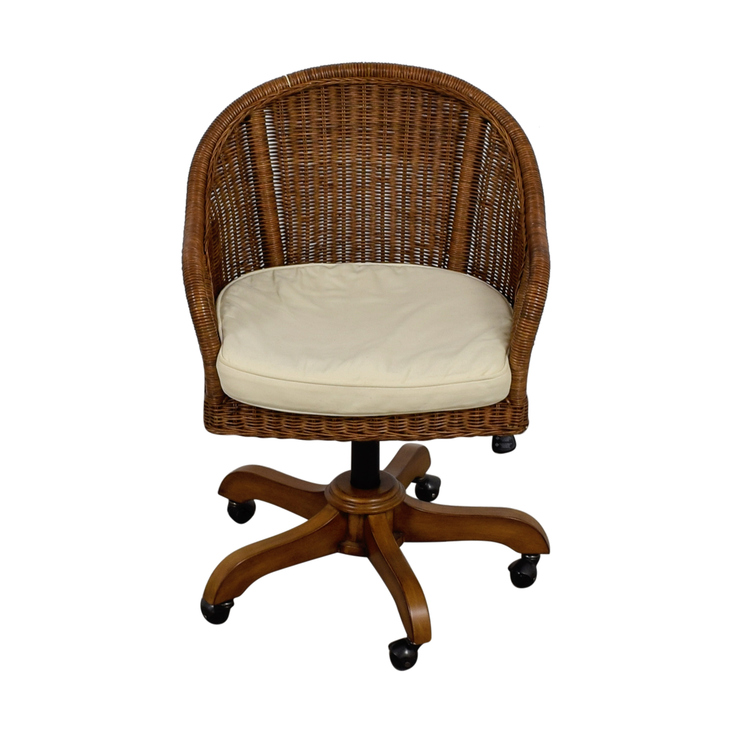 Pottery Barn Wingate Wicker Desk Chair Chairs