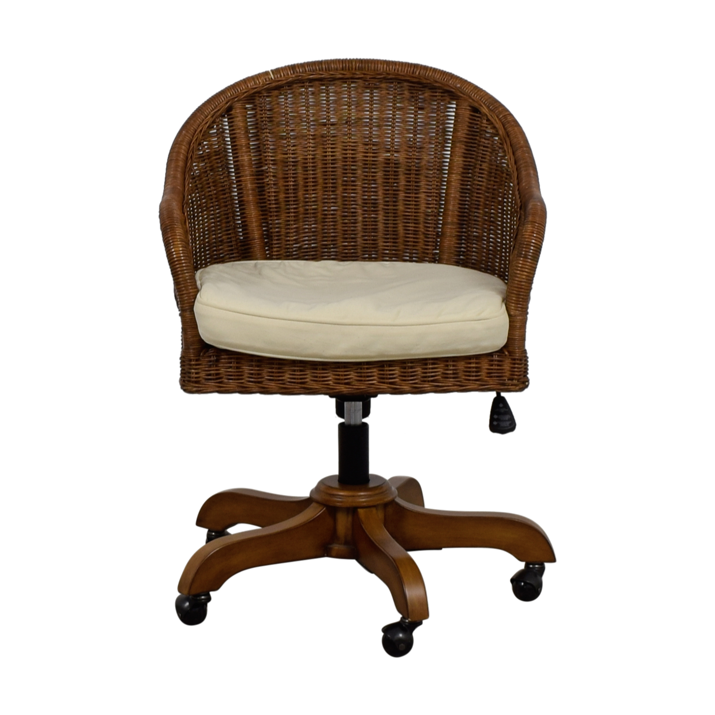 Pottery Barn Pottery Barn Wingate Wicker Desk Chair for sale