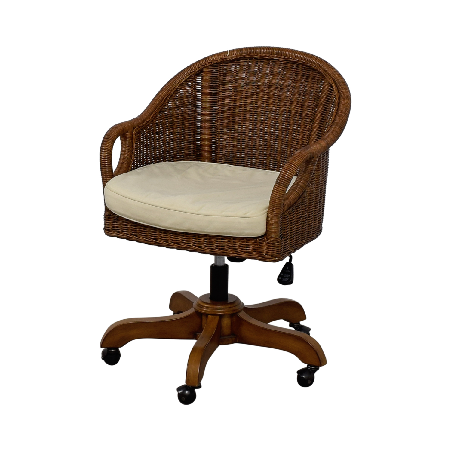 53 off pottery barn pottery barn wingate wicker desk chair chairs. Black Bedroom Furniture Sets. Home Design Ideas