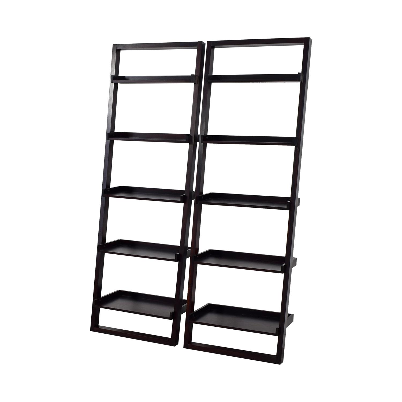 Crate & Barrel Crate & Barrel Sloane Black Leaning Bookshelf dimensions