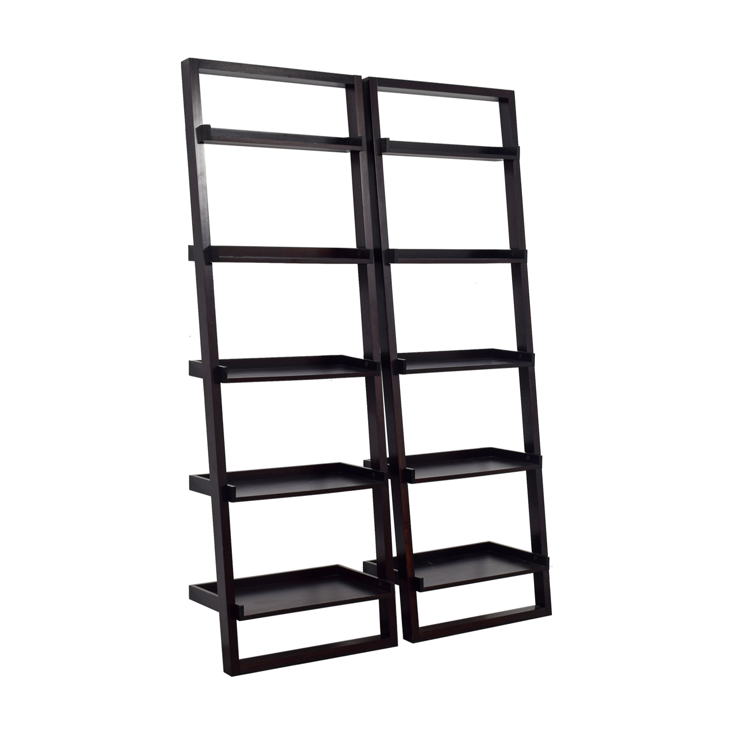Crate & Barrel Crate & Barrel Sloane Black Leaning Bookshelf price