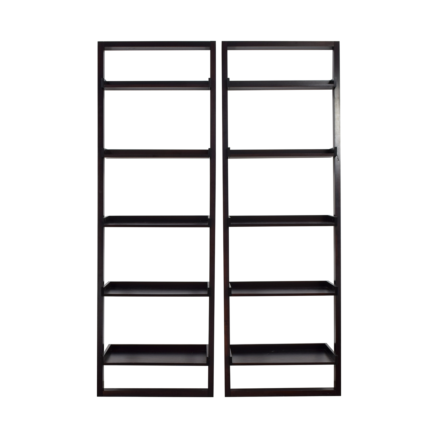 Crate & Barrel Crate & Barrel Sloane Black Leaning Bookshelf used