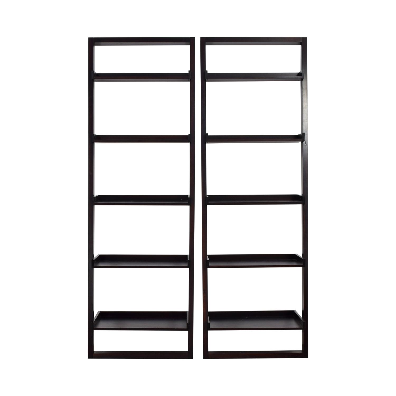 shop Crate & Barrel Crate & Barrel Sloane Black Leaning Bookshelf online