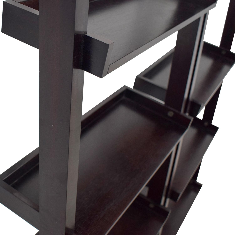 buy Crate & Barrel Crate & Barrel Sloane Black Leaning Bookshelf online