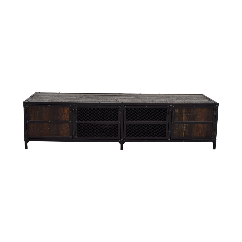 Rustic Wood and Metal Media Center price