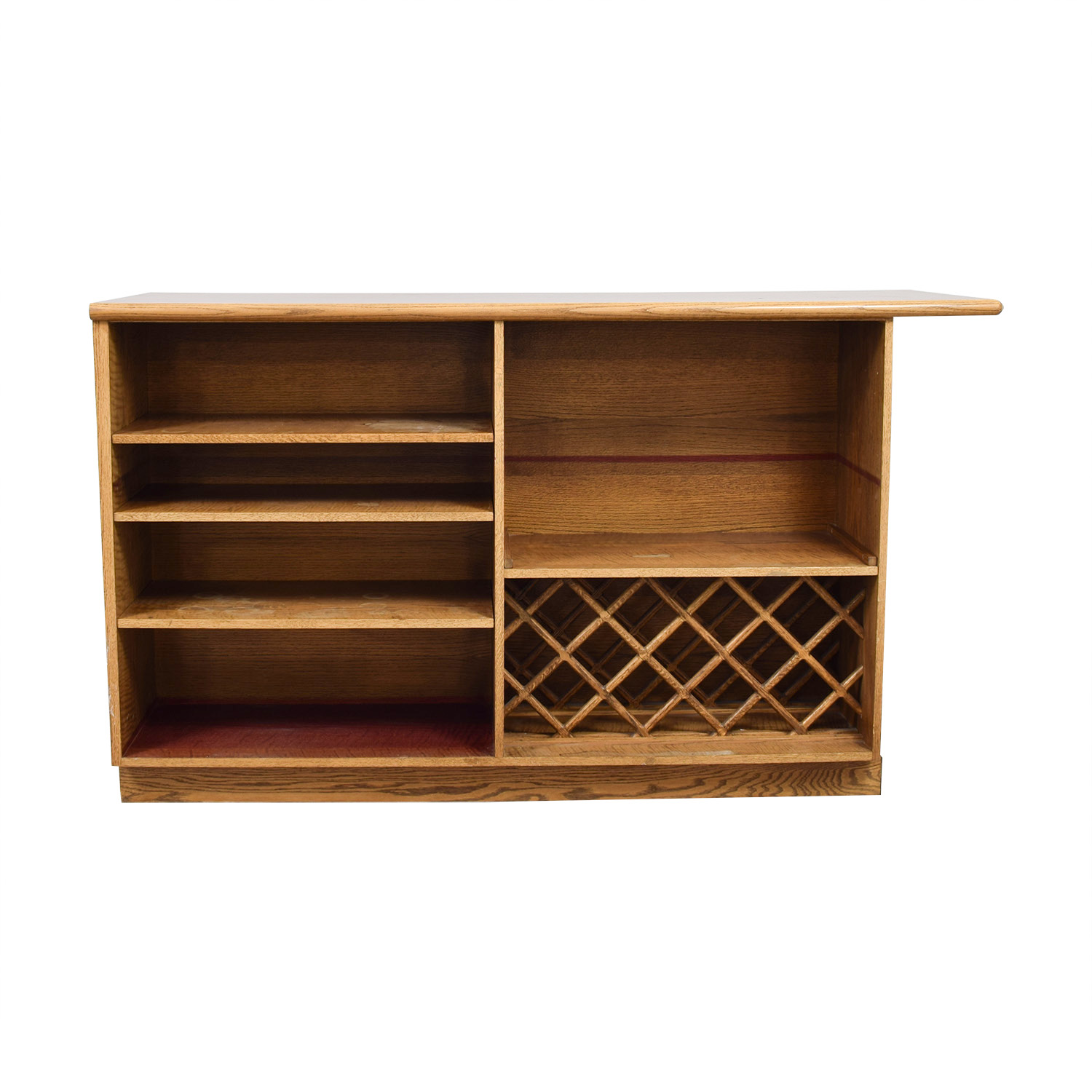 Wood Bar with Storage on sale