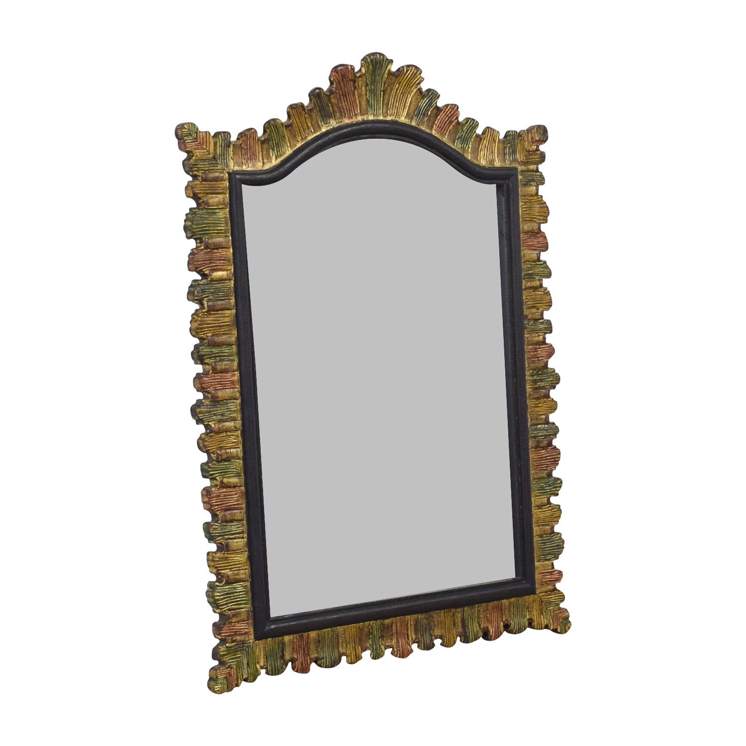 Thomas Fetherston Thomas Fetherston Multi-Colored Gold Framed Mirror discount