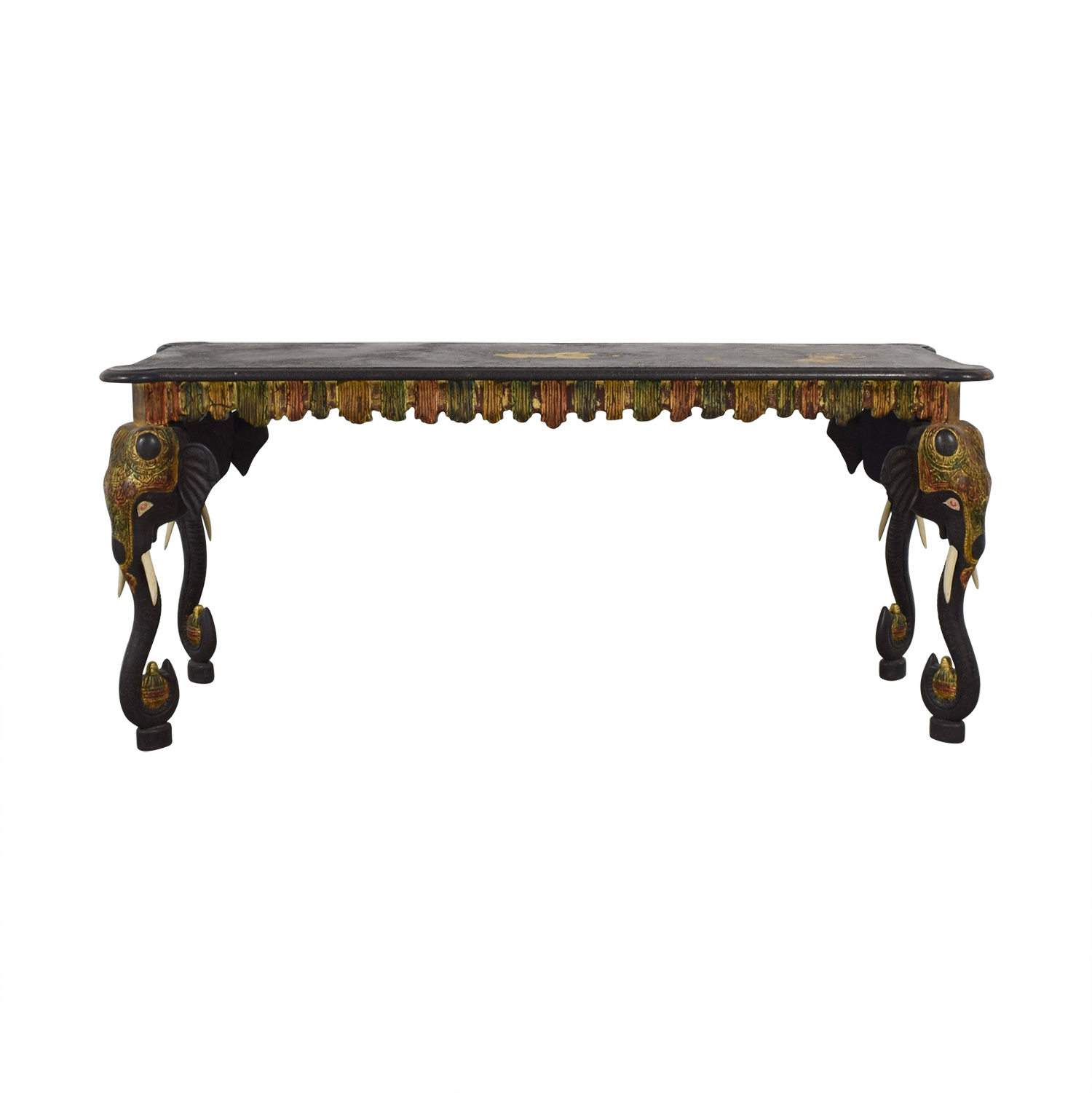Custom Wood and Gold African Elephant Console price