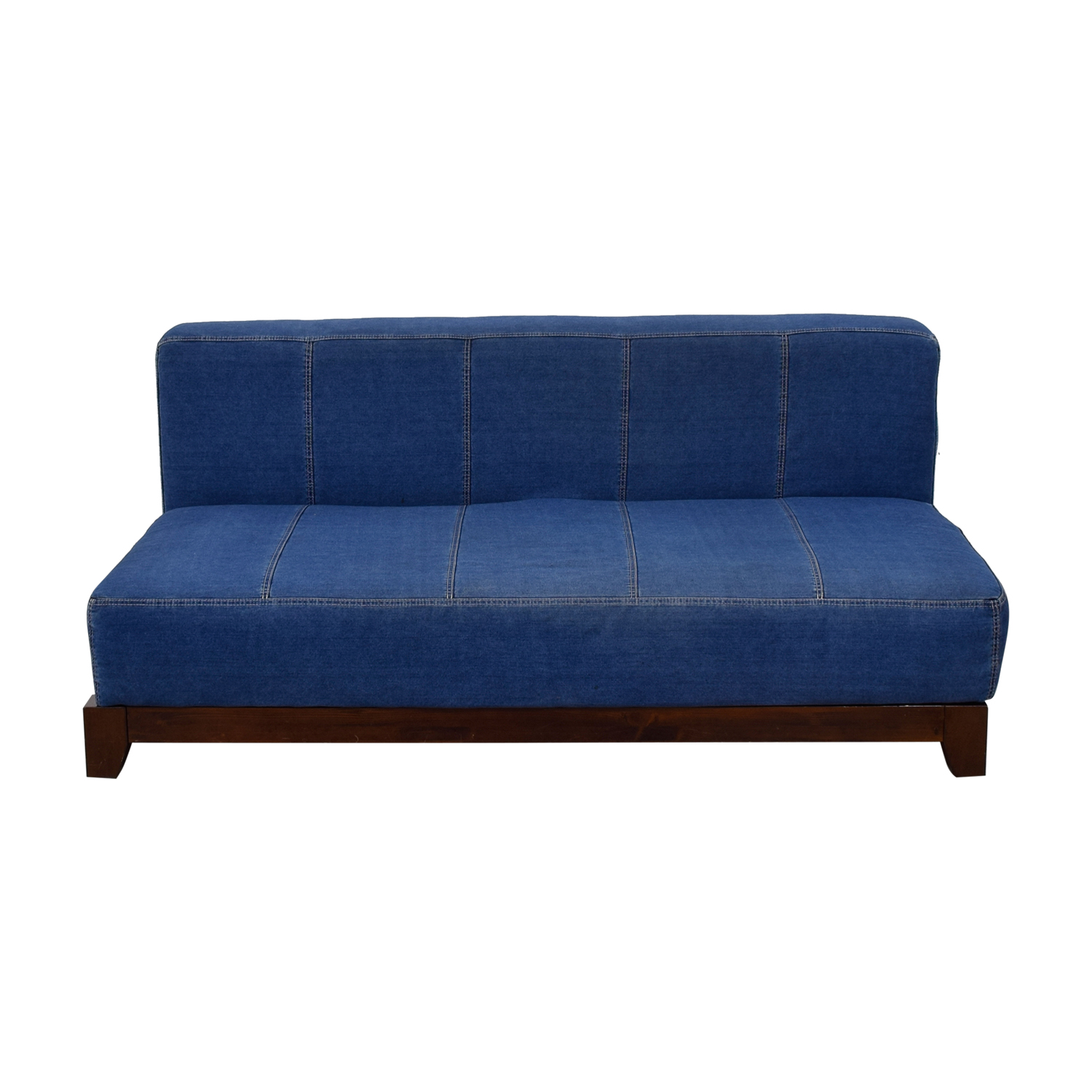 Pottery Barn Hampton Denim Loveseat Pottery Barn ...