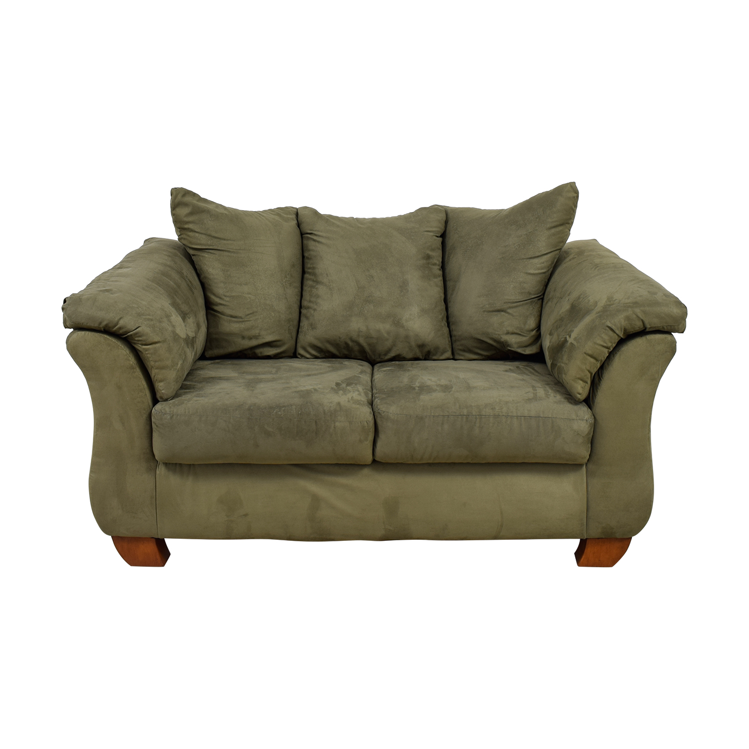 shop Straight From the Crate Green Loveseat Straight From the Crate Sofas