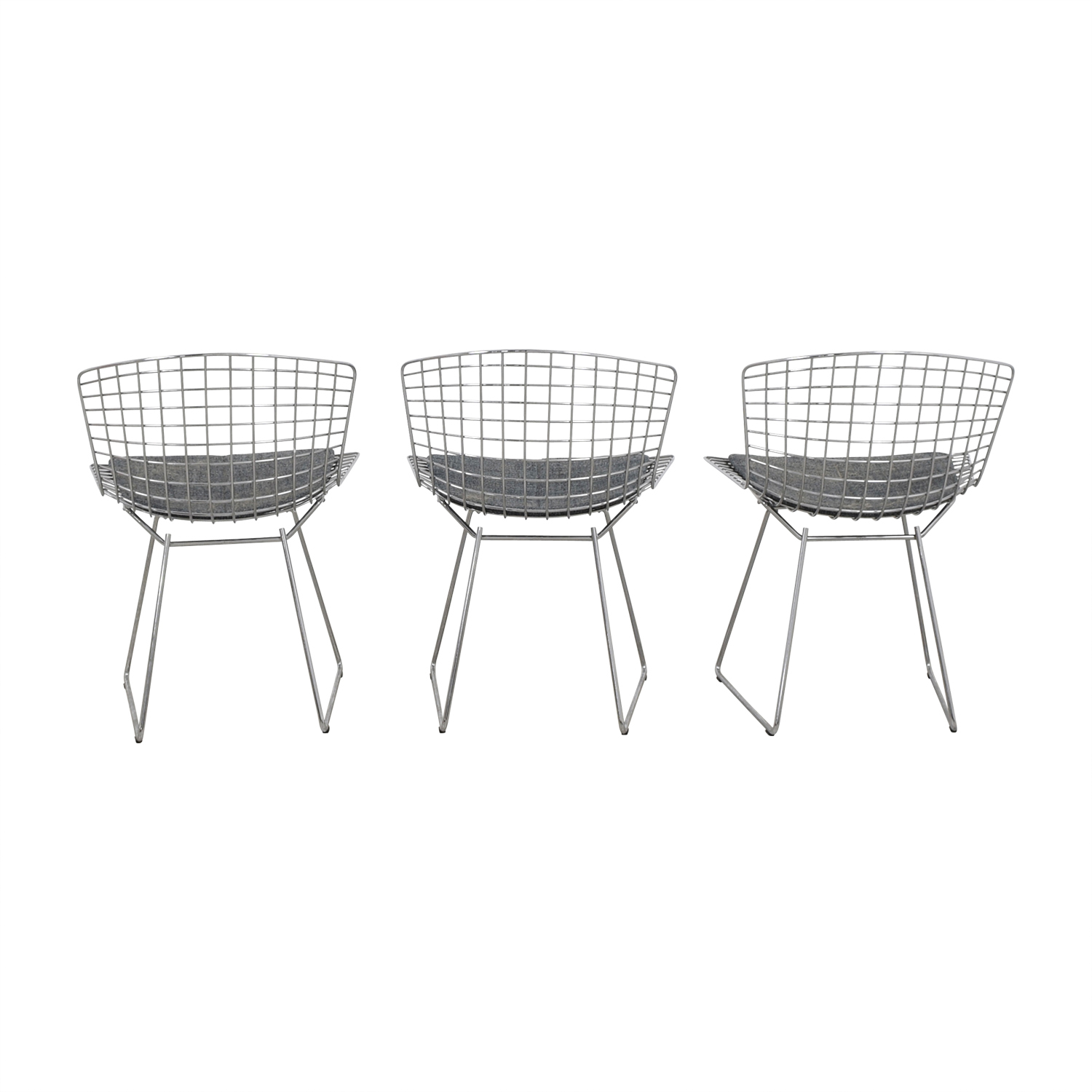 Knoll Knoll Harry Bertoia Metal Dining Chairs on sale
