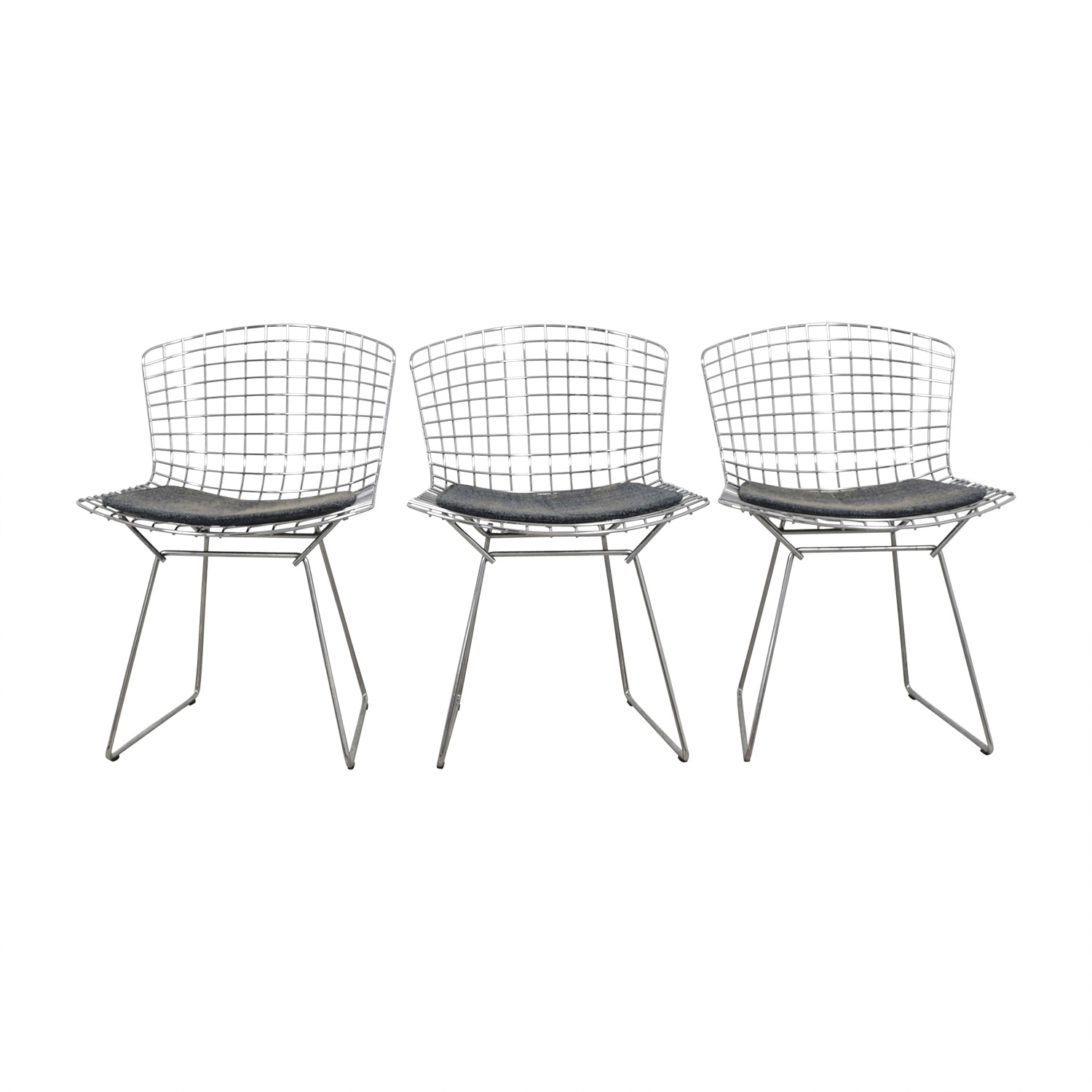 Knoll Knoll Harry Bertoia Metal Dining Chairs discount