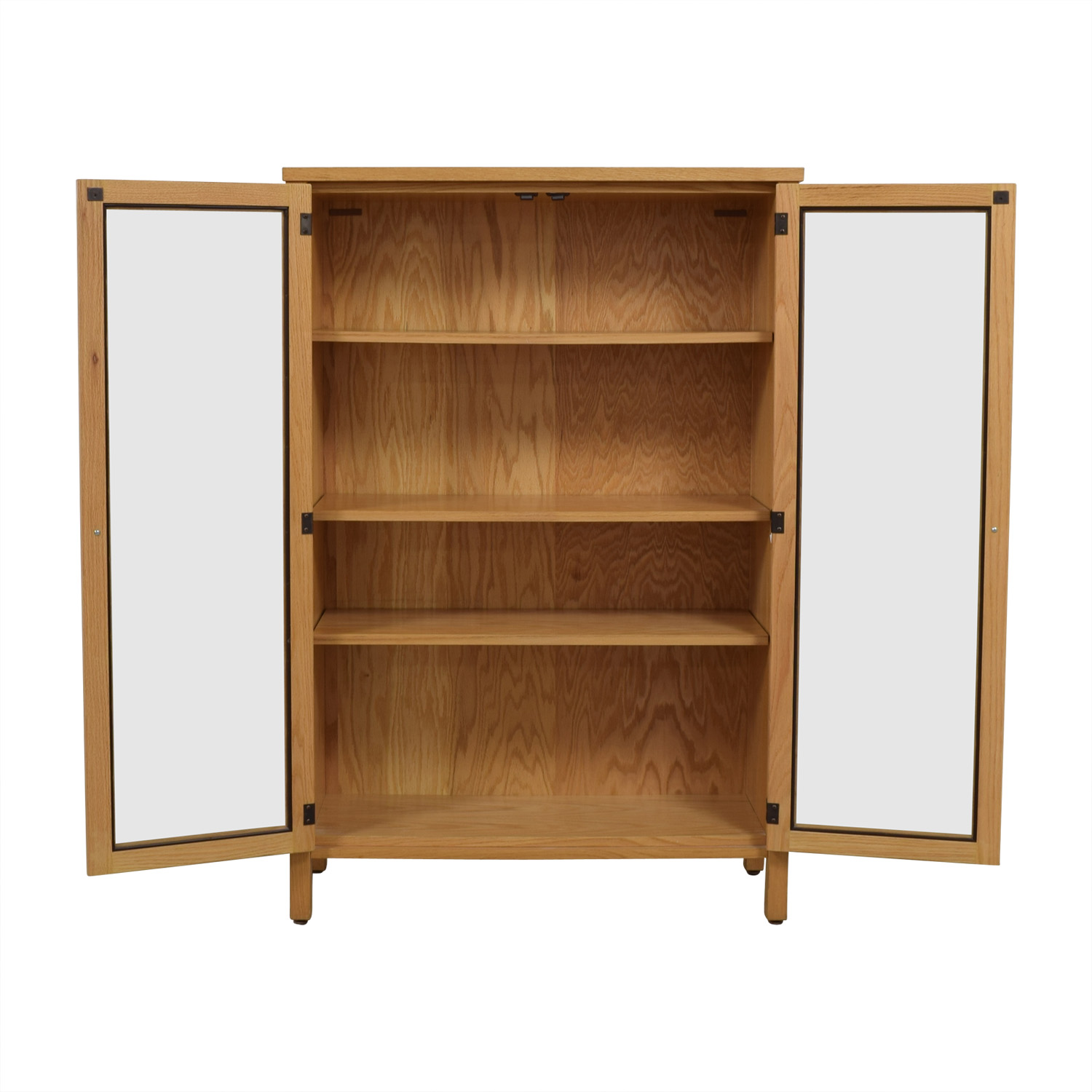 buy Workbench Wood and Glass Bookcase Workbench Cabinets & Sideboards