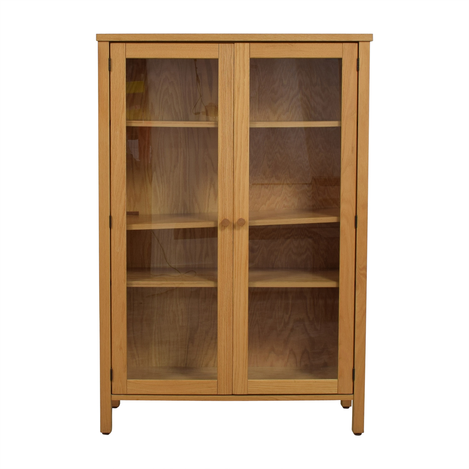 shop Workbench Workbench Wood and Glass Bookcase online