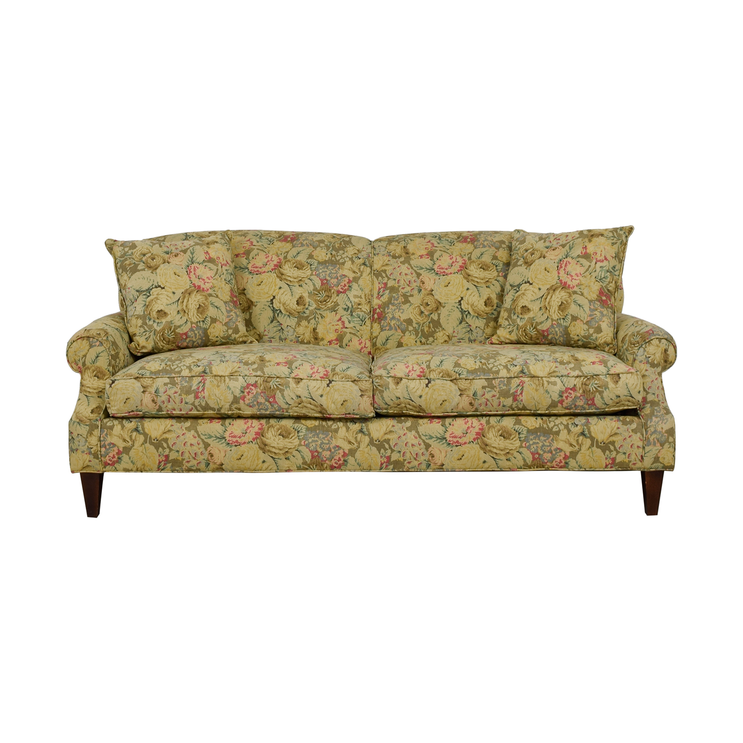 Crate & Barrel Crate & Barrel English Tight-back Roll Arm Sofa with Throw Pillows nyc