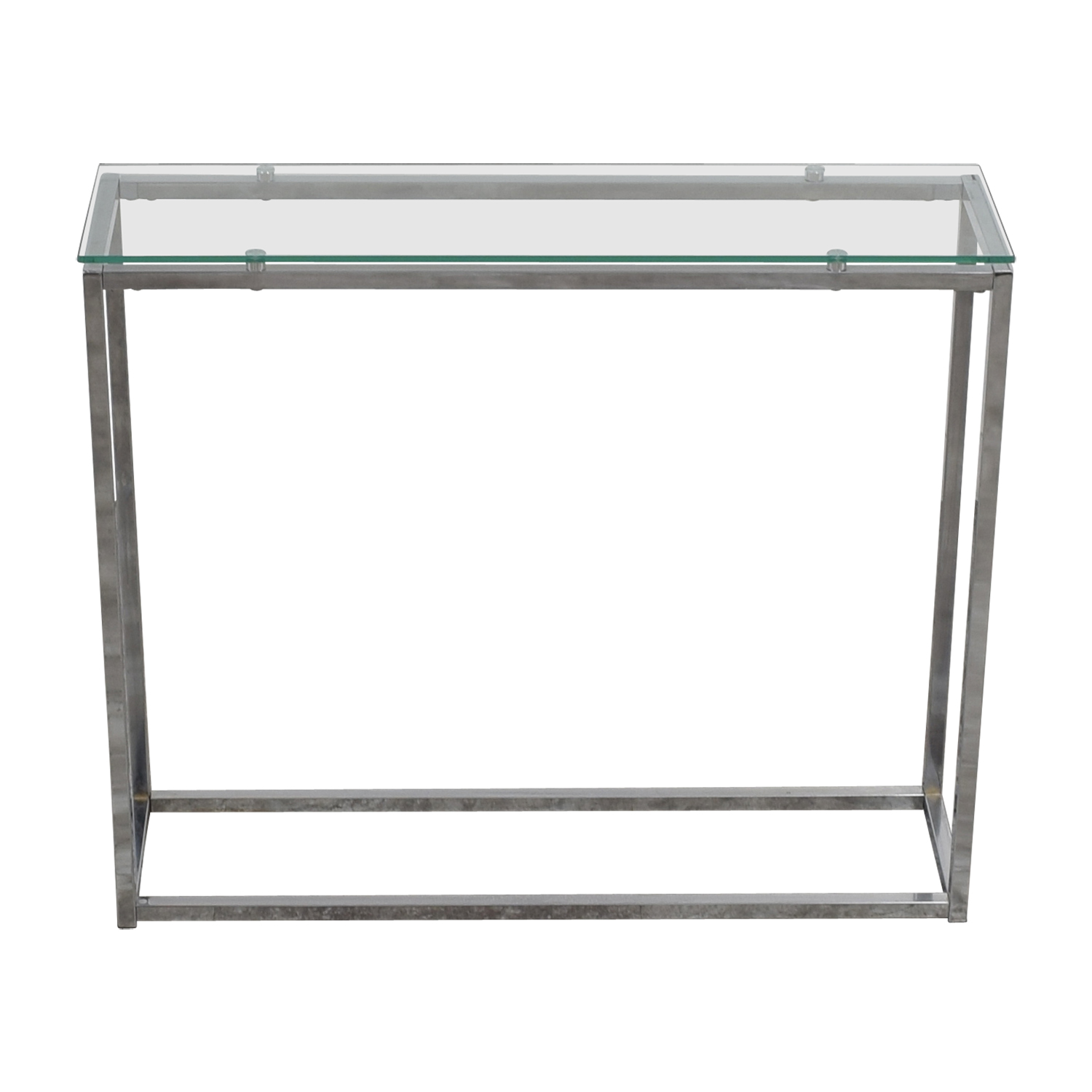 Glass and Chrome Console discount