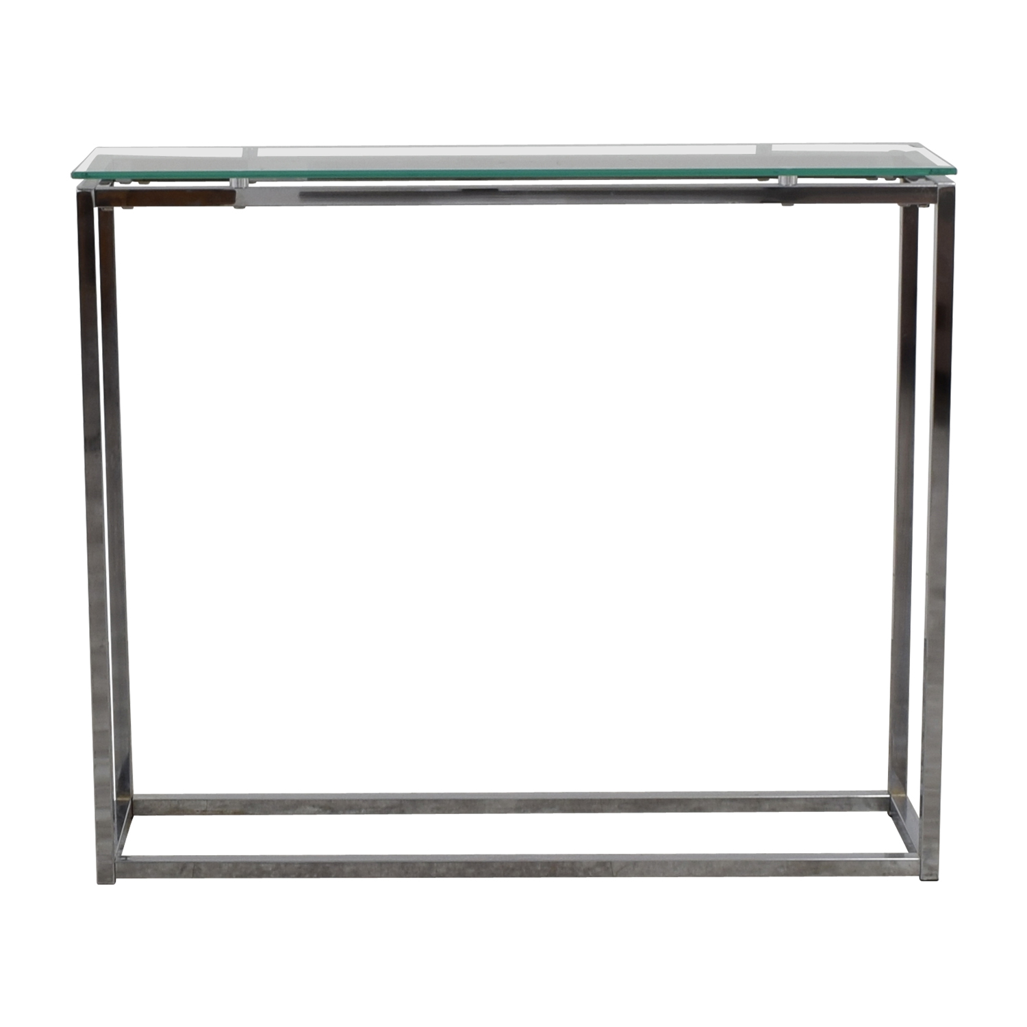 Glass and Chrome Console for sale