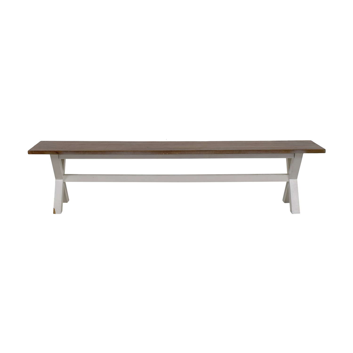 Heavy Artisan Wood Bench on sale