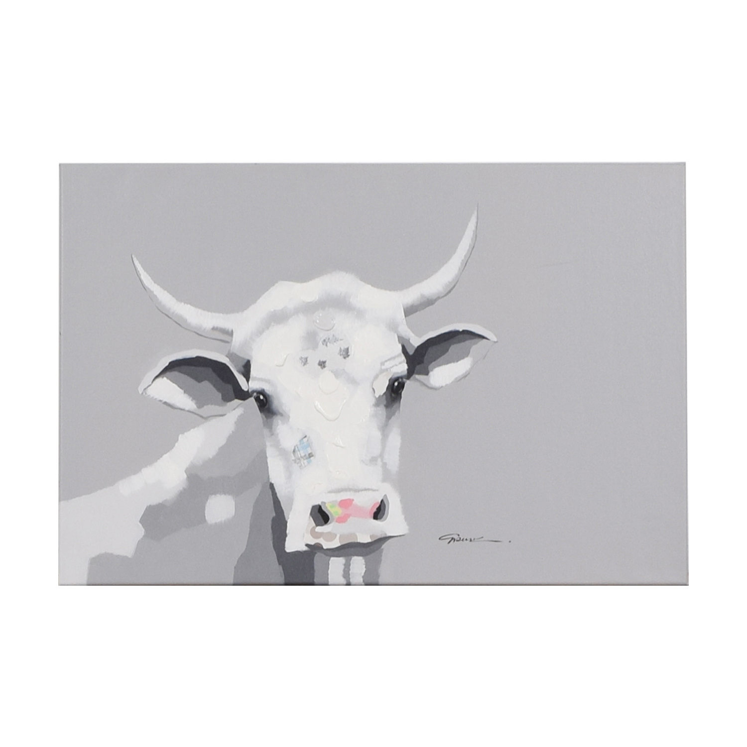 Cow Painting on Canvas Wall Art