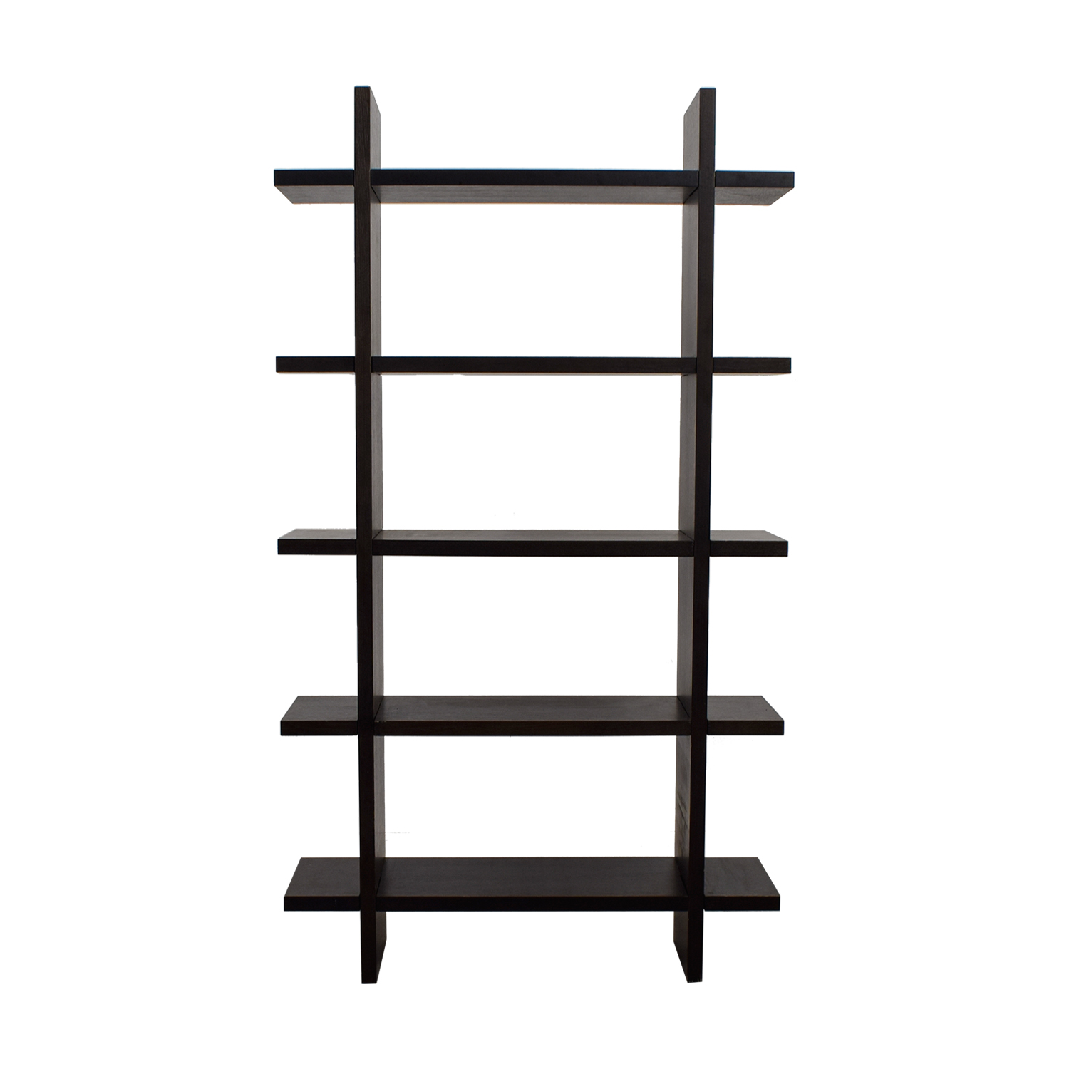 Crate & Barrel Crate & Barrel Black Wood Bookshelf price