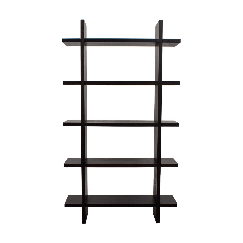 Crate & Barrel Crate & Barrel Black Wood Bookshelf used