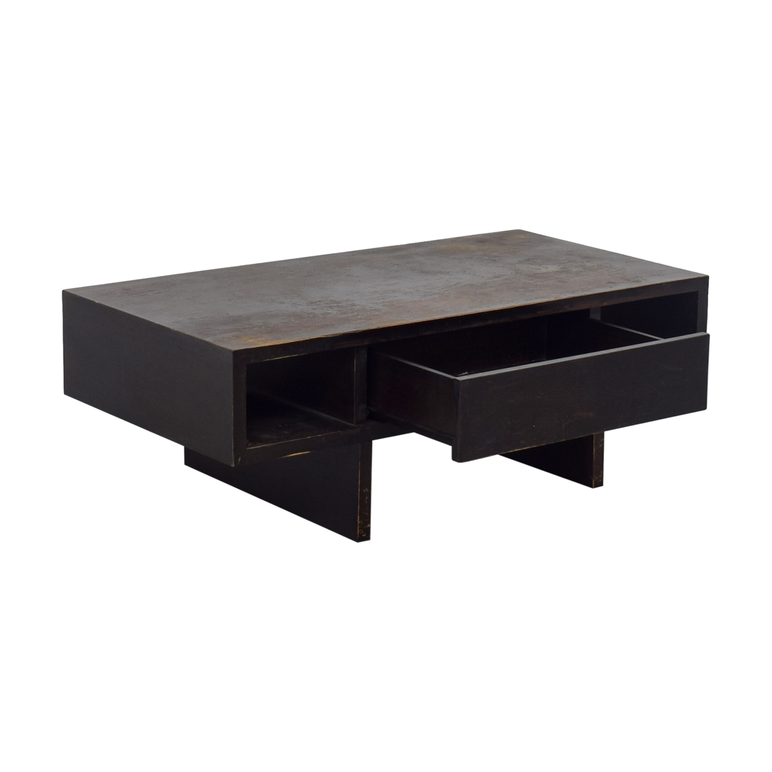 Phenomenal 80 Off West Elm West Elm Distressed Black Storage Coffee Table Tables Dailytribune Chair Design For Home Dailytribuneorg