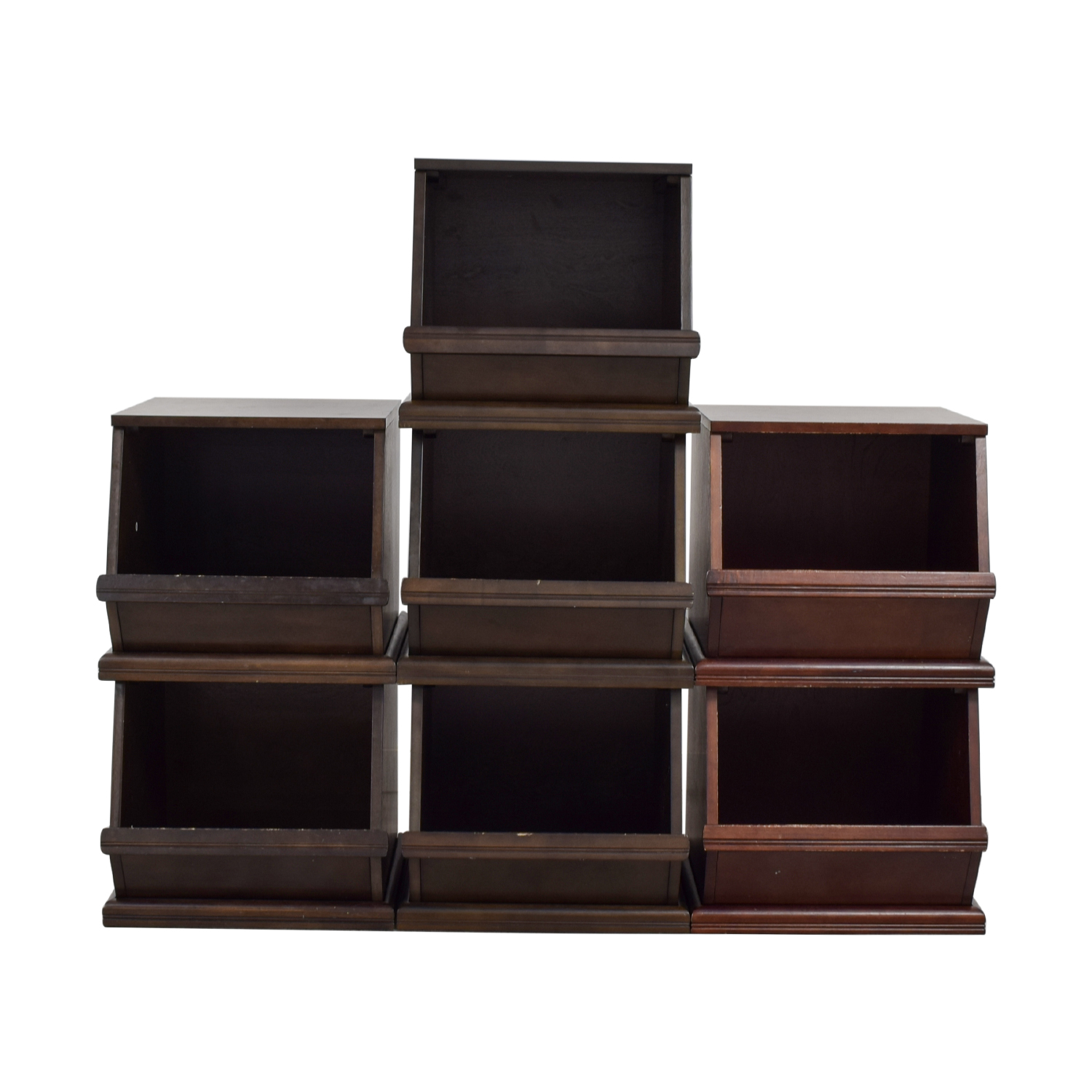 Land of Nod Land of Nod Storage Palooza Bins Dark Brown, Dark Cherry