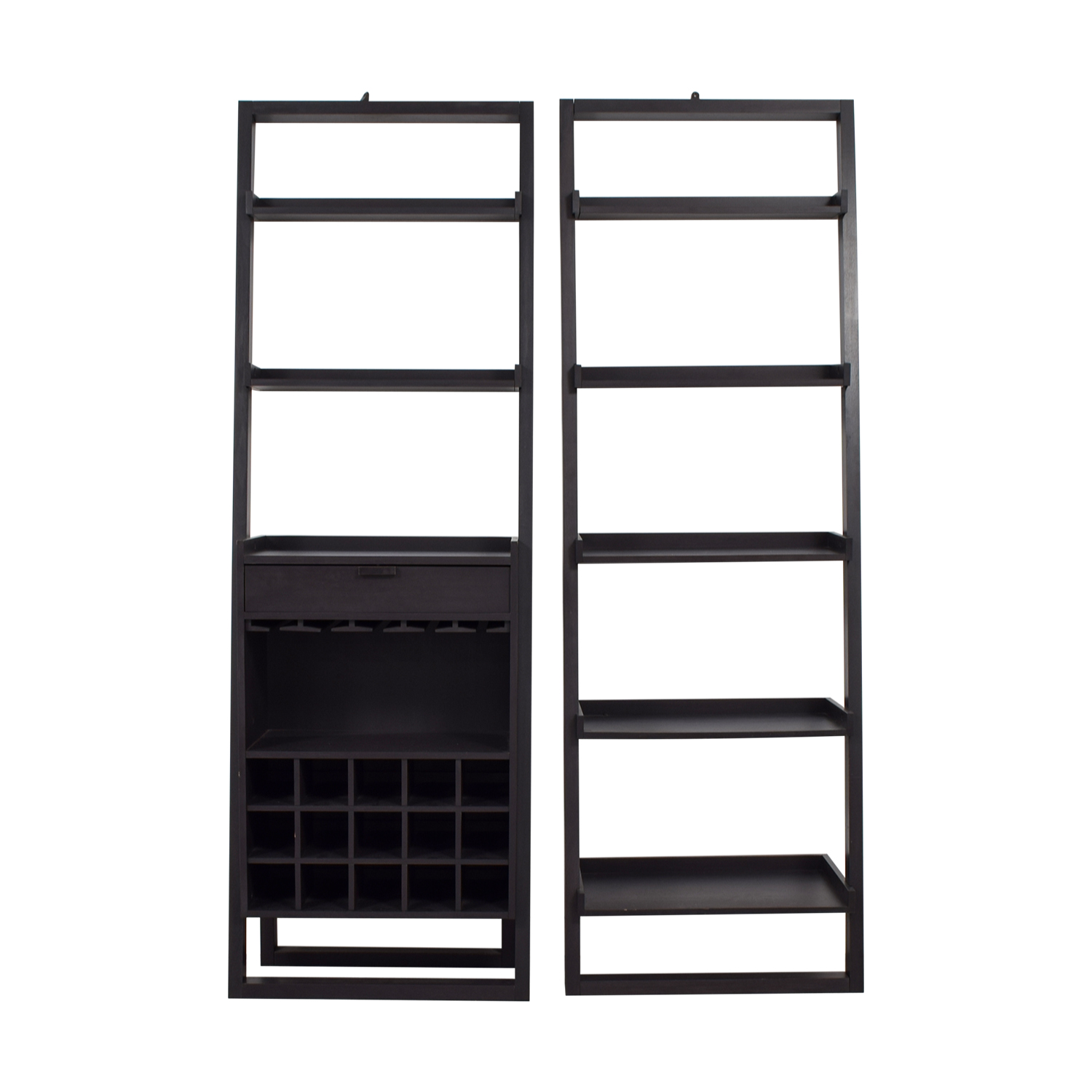 shop Crate & Barrel Leaning Bookcase and Leaning Wine Bar Crate & Barrel Sofas
