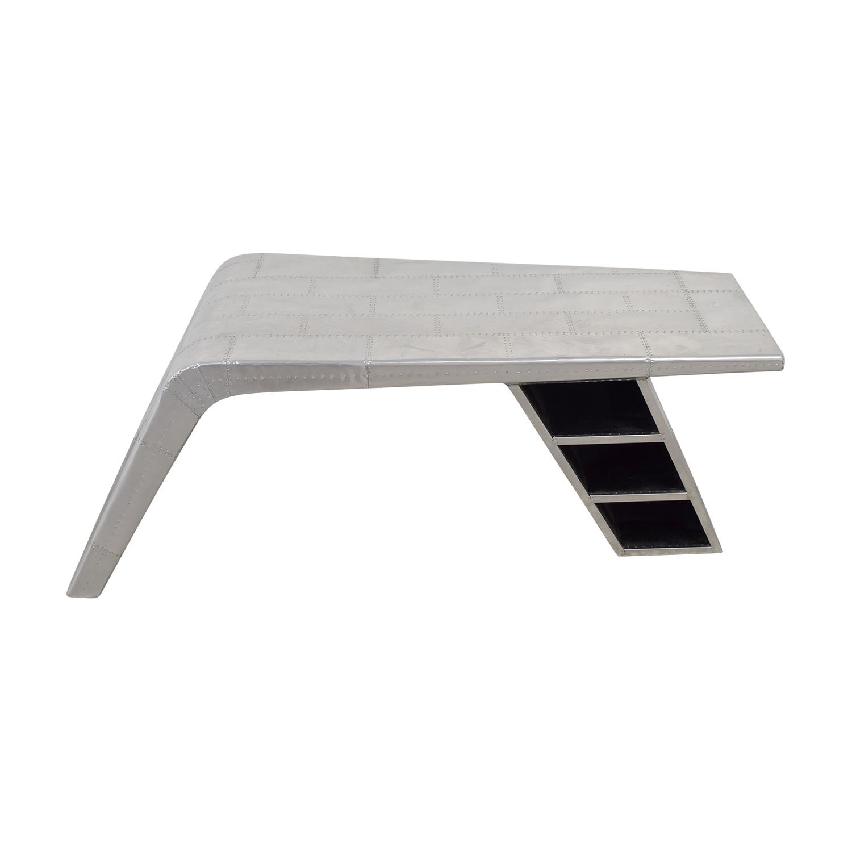 Modani Silver Metal Wing Desk sale