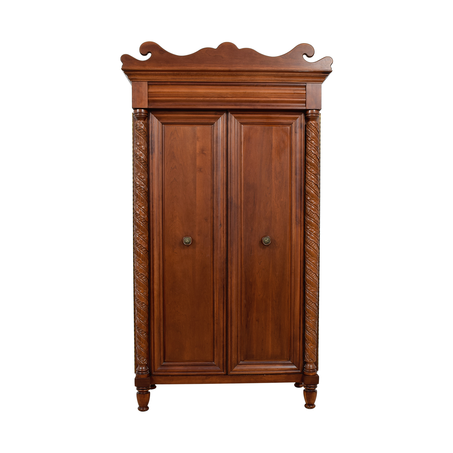 Pulaski Pulaski Croquet Wood Armoire with Wicker Baskets coupon