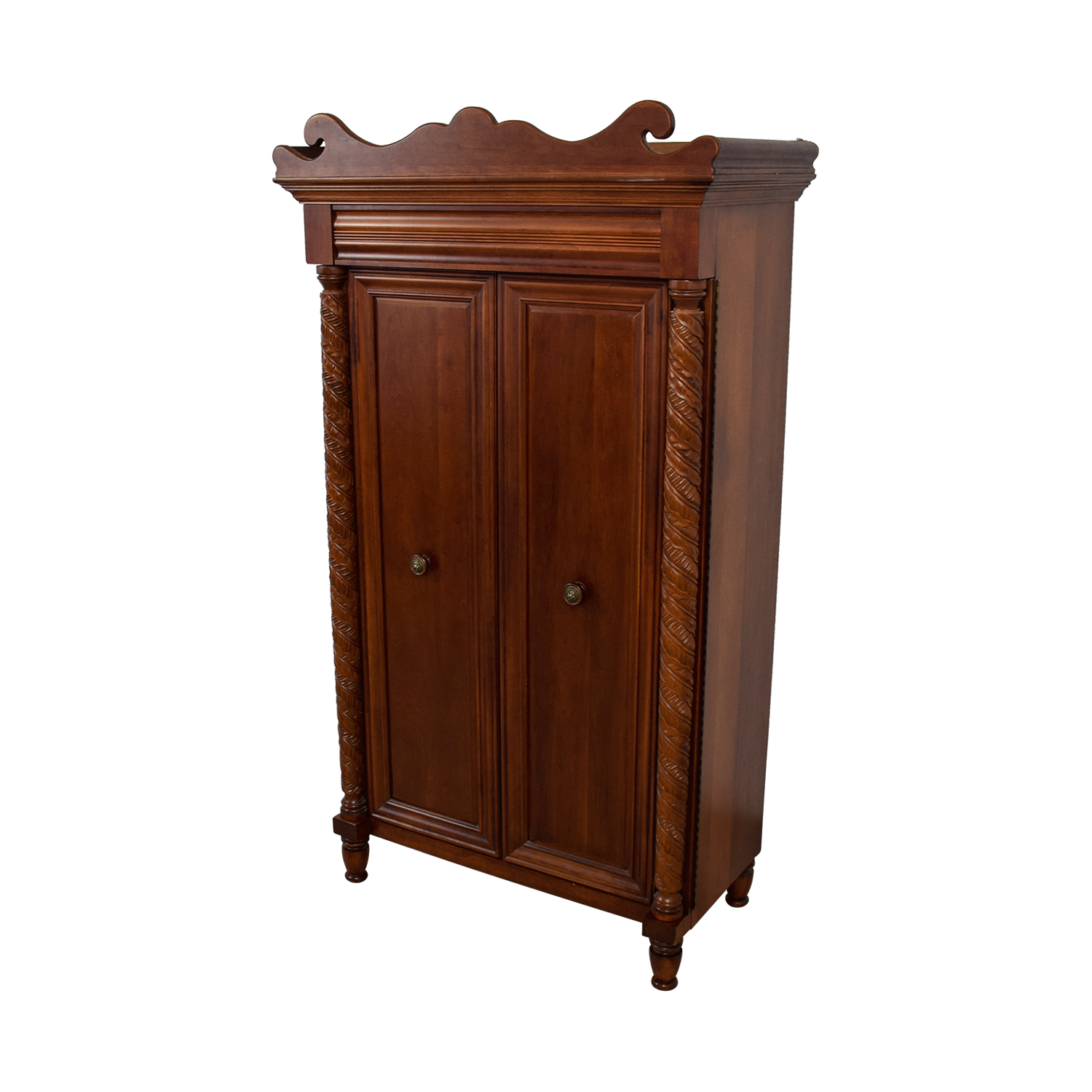 Pulaski Pulaski Croquet Wood Armoire With Wicker Baskets Brown