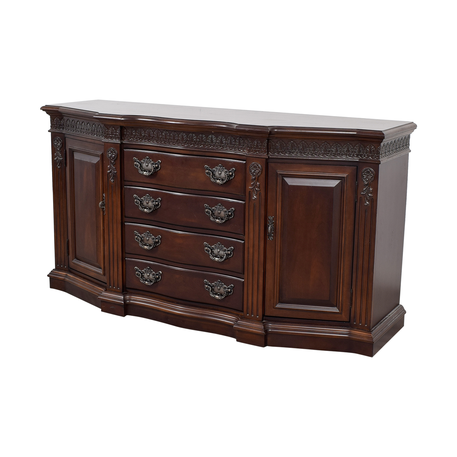shop Bernhardt Four Drawer Wood Buffet Bernhardt