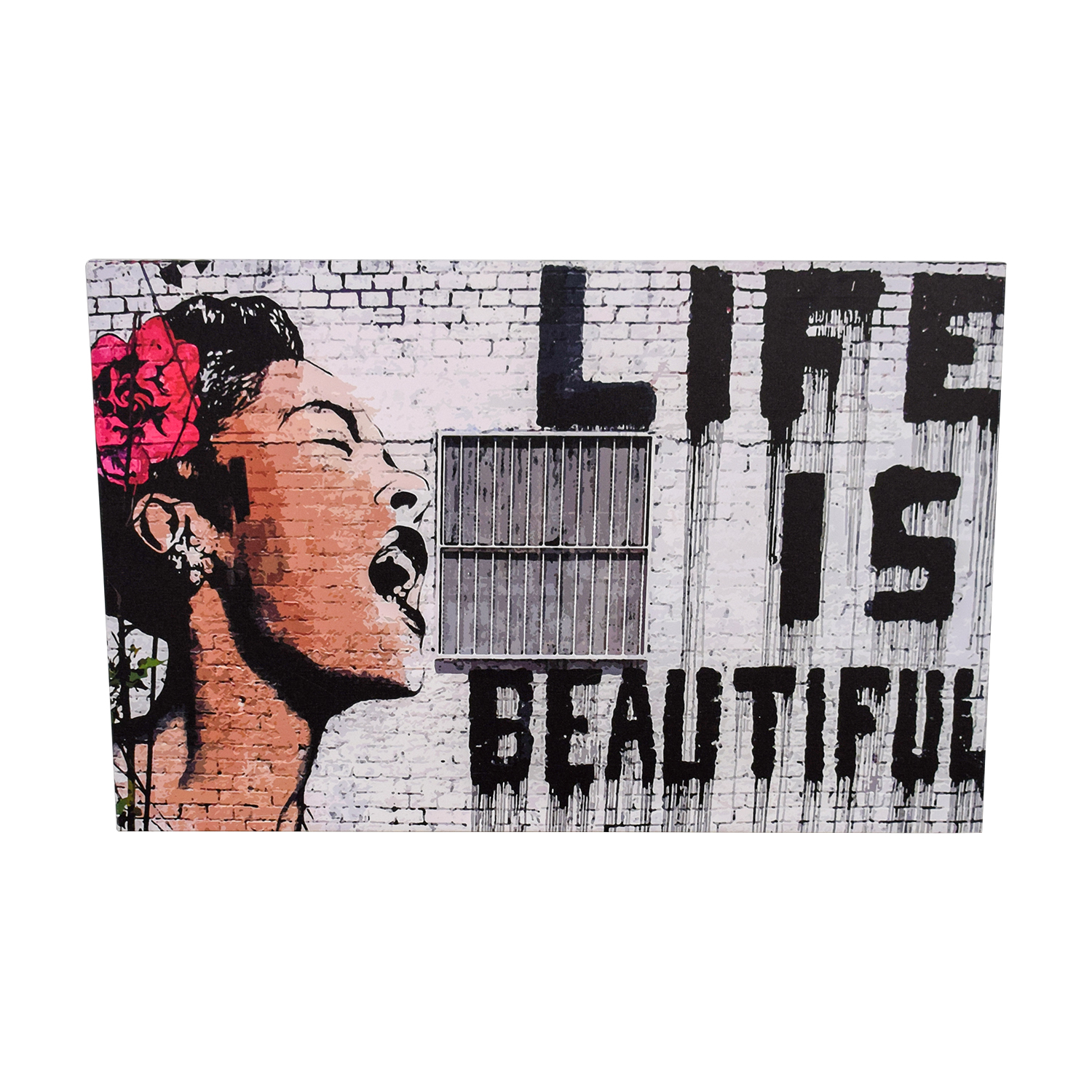 Banksy Like Is Beautiful Print Decor